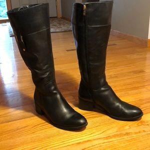 Womens sz 11 Wide Calf, Franco Sarto Black Boots.